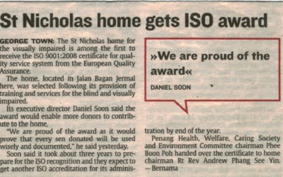 [:en]St Nicholas home gets ISO award – Bernama[:]